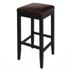 GG649 Faux Leather High Bar Stools Dark Brown (Pack of 2)