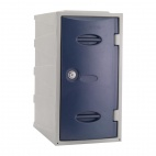 Plastic Single Door Locker Camlock Blue 600mm