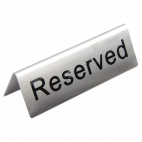 U051 Stainless Steel Table Sign - Reserved