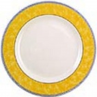 Churchill New Horizons Marble Border Classic Plates Yellow 254mm