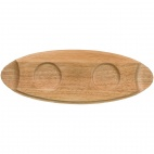 CE765 Menu Oval Wooden Trays 400mm