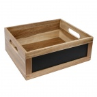 Bread Crate with Chalkboard 1/2 GN
