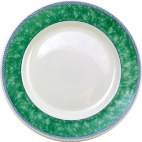 Churchill New Horizons Marble Border Classic Plates Green 254mm