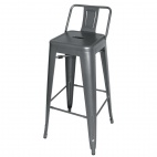 DM935 Steel Bistro High Stool with Back Rest (Pack of 4)