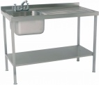 SINK1070SBR 1000mm Single Bowl Sink With Single Right Drainer