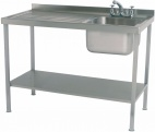 SINK1260L 1200mm Single Bowl Sink With Single Left Drainer