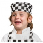 B123 Childrens Skull Cap - Big Black and White Check