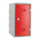 Plastic Single Door Locker Camlock Red 600mm