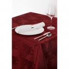 CE502 Roslin Woven Rose Burgundy Tablecloth