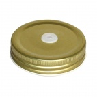 Jam Jar Lid with Straw Hole