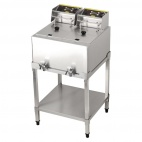 SA338 2 x 8 Ltr Double Tank Electric Freestanding Fryer - 2 x 6kw