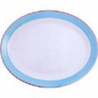 Rio Blue Oval Coupe Dishes 255mm