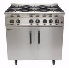 "GB6 LPG Gas 6 Burner Oven with Half Price Splashback / Plate Shelf & 3/4"" 1000mm Gas Hose"