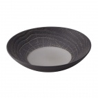 Arborescence Round Coupe Plate Black 240mm