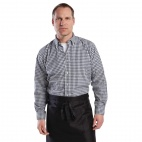 Mens Gingham Shirt Black