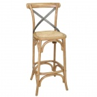 GG657 Wooden Barstool with Backrest