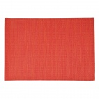 PVC Placemat Fine Band Red
