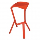GG666 Polypropylene Red Stacking Barstools (Pack of 4)