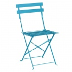 GK982 Seaside Blue Pavement Style Steel Chairs (Pack of 2)
