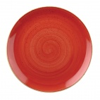 Churchill Stonecast Round Coupe Plates Berry Red 165mm