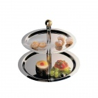 S025 Stainless Steel 2 Tier Display Tray