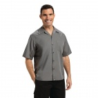 B179-S Cool Vent Chefs Shirt - Grey