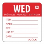 Red Dissolvable Wednesday Labels