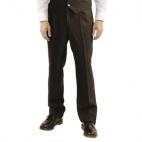 A578-42 Mens Pleated Front Trousers - Black