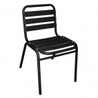 GK996 Bistro Sidechairs Aluminium Black (Pack of 4)