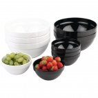 GC934 Frames Black 2.5Ltr Melamine Bowl