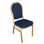 U526 Aluminium Arched Back Banquet Chairs Blue (Pack 4)