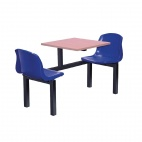 Two Seater Side Access Canteen Unit Beech and Blue