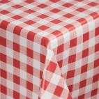 E792 Red Check Tablecloth