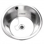 D20142NP Rimmed Edge Round Inset Sink Bowl