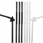 DL100 Extraflex Black & White Straws