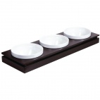 GC914 Frames Dark Wood Rectangular Large Bowl Base