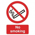 W391 No Smoking Symbol Sign