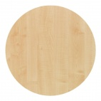 Werzalit Round Table Top Maple 600mm
