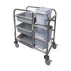 DK738 Stainless Steel Bussing Trolley