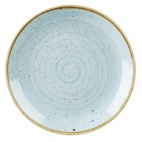 Churchill Stonecast Round Coupe Plates Duck Egg Blue 200mm