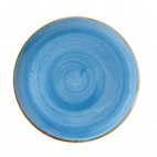 Churchill Stonecast Round Coupe Plates Cornflower Blue 260mm
