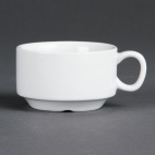 CB472 Whiteware Stacking Espresso Saucer