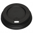 Black Lid for Coffee Cups 8oz 50 Pack
