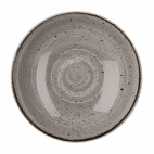 Churchill Stonecast Round Coupe Bowls Peppercorn Grey 200mm