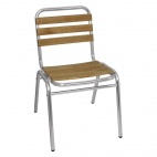 GK997 Aluminium and Ash Bistro Sidechair