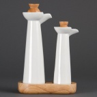 CB705 Whiteware Vinegar and Oil Set