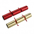 Christmas Crackers Red and Gold 9in