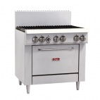 GL173-N 6 Burner Natural Gas Oven Range