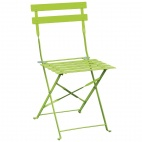 Green Pavement Style Steel Chairs (Pack of 2)