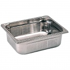 K145 Stainless Steel Perforated 1/2 Gastronorm Pan 100mm
